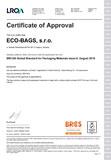 Certifikát BRC