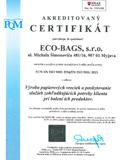 Certifikát PQM
